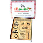 Glitz Design - Hello December Collection - Christmas - Rubber Stamps