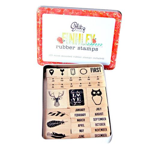 Glitz Design - Finnley Collection - Rubber Stamps