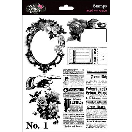 Glitz Design - Laced with Grace Collection - Clear Acrylic Stamps - Laces with Grace, CLEARANCE