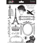 Glitz Design - French Kiss Collection - Clear Acrylic Stamps