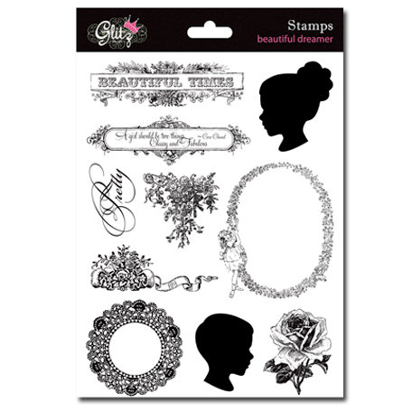 Glitz Design - Beautiful Dreamer Collection - Clear Acrylic Stamps
