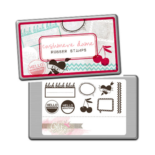 Glitz Design - Cashmere Dame Collection - Rubber Stamps