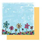 Glitz Design - Sublime Collection - 12x12 Double Sided Paper - Sublime Doodly Floral