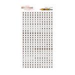 Glitz Design - Color Me Happy Collection - Cardstock Stickers - Teeny Alphabet - White