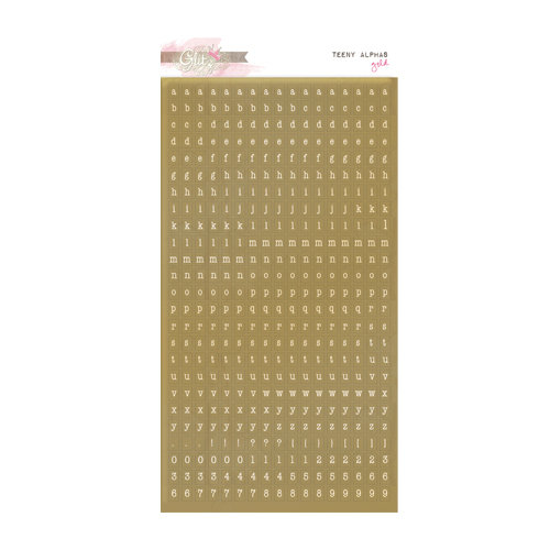 Glitz Design - Unchartered Waters Collection - Cardstock Stickers - Teeny Alphabet - Metallic Gold