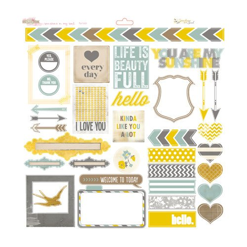 Glitz Design - Sunshine in My Soul Collection - 12 x 12 Cardstock Stickers - Titles and Accents