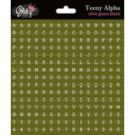Glitz Design - Laced with Grace Collection - Cardstock Stickers - Teeny Alphabet - Olive Green
