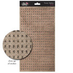 Glitz Design - French Kiss Collection - Cardstock Stickers - Teeny Alphabet - Burlap