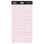 Glitz Design - Pretty in Pink Collection - Cardstock Stickers - Teeny Alphabet - Pink