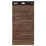 Glitz Design - Happy Travels Collection - Cardstock Stickers - Teeny Alphabet - Brown