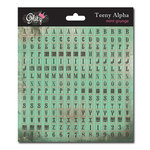 Glitz Design - Cardstock Stickers - Teeny Alphabet - Mint Grunge