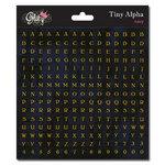 Glitz Design - Cardstock Stickers - Teeny Alphabet - Black