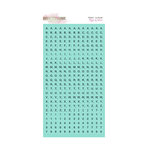 Glitz Design - Cashmere Dame Collection - Cardstock Stickers - Teeny Alphabet - Tiffany Blue