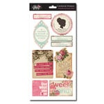 Glitz Design - Beautiful Dreamer Collection - Cardstock Stickers - Titles