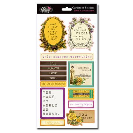 Glitz Design - Dance in Sunshine Collection - Cardstock Stickers - Titles