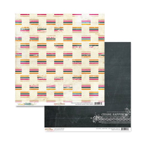 Glitz Design - Unchartered Waters Collection - 12 x 12 Double Sided Paper - Stripe
