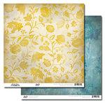 Glitz Design - Vintage Blue Collection - 12 x 12 Double Sided Paper - Floral