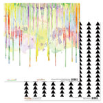 Glitz Design - Wild and Free Collection - 12 x 12 Double Sided Paper - Drips