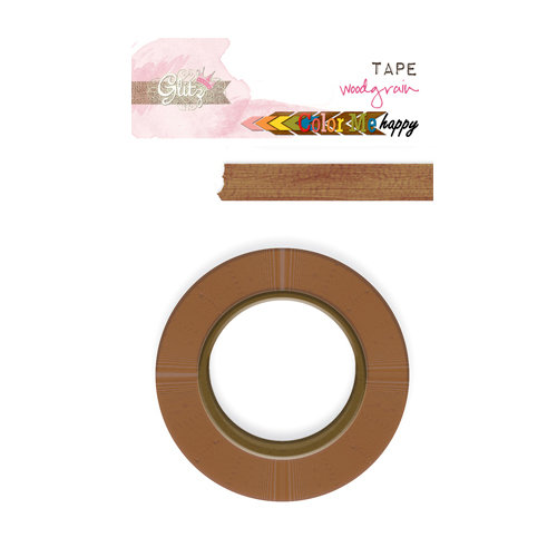 Glitz Design - Color Me Happy Collection - Washi Tape - Woodgrain