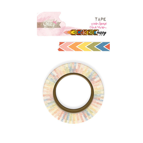 Glitz Design - Color Me Happy Collection - Washi Tape - Rainbow Chevron