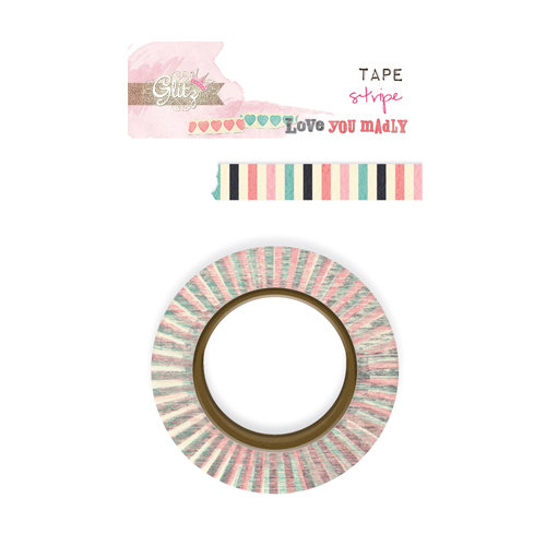 Glitz Design - Love You Madly Collection - Washi Tape - Stripe