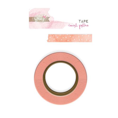 Glitz Design - Hello Friend Collection - Washi Tape - Coral Polka