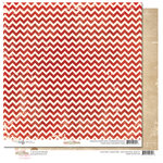 Glitz Design - Yours Truly Collection - 12 x 12 Double Sided Paper - Chevron