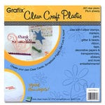 Grafix - Clear Craft Plastic - 12 x 12 - Thin