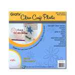 Grafix - Clear Craft Plastic - 8 x 8 - Thin