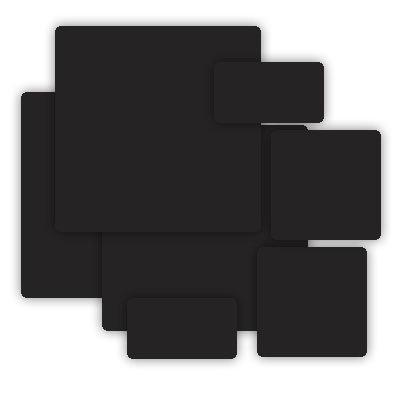 Grafix - Medium Weight Chipboard - Black - Assorted Sizes