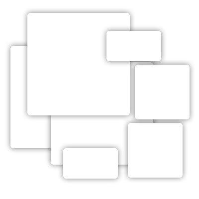 Grafix - Medium Weight Chipboard - White - Assorted Sizes