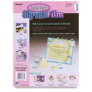 Grafix - Ink Jet Shrink Film - White - 8.5x11