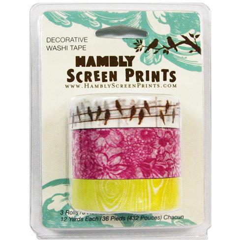 Hambly Studios - Screen Prints - Decorative Washi Tape - Set 1