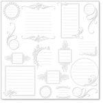 Hambly Studios - Overlay Transparancy - Screen Prints - Journaling Bits - White, CLEARANCE
