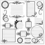 Hambly Studios - Overlay Transparancy - Screen Prints - Journaling Bits - Black, CLEARANCE