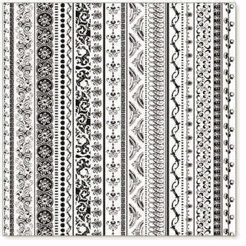 Hambly Studios - Screen Prints - 12x12 Overlay - On Edge - Black, CLEARANCE