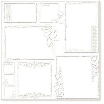 Hambly Studios - Screen Prints - 12x12 Overlay - Urban Chic Frames - White