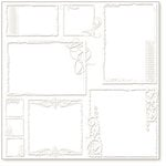 Hambly Studios - Screen Prints - 12x12 Overlay - Urban Chic Frames - White