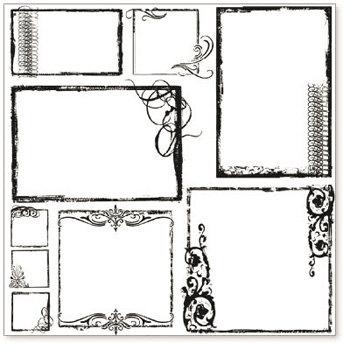 Hambly Studios - Screen Prints - 12x12 Overlay - Urban Chic Frames - Black