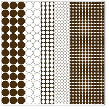 Hambly Studios - Screen Prints - 12x12 Overlay - Mod Circles - Brown, CLEARANCE