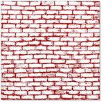 Hambly Studios - Screen Prints - 12x12 Overlay - Brick Wall - Burgundy Red