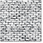 Hambly Studios - Screen Prints - 12x12 Overlay - Brick Wall - Black