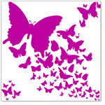 Hambly Studios - Screen Prints - 12 x 12 Overlay Transparency - Wings - Magenta, CLEARANCE