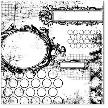 Hambly Studios - Screen Prints - 12 x 12 Overlay Transparency - All Mixed Up - Black, CLEARANCE