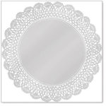Hambly Studios - Screen Prints - 12 x 12 Overlay Transparency - Antique Doily - Metallic Silver, CLEARANCE