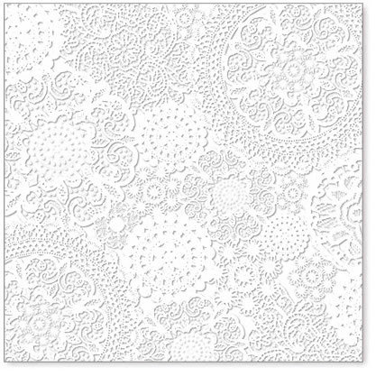 Hambly Studios - Screen Prints - 12 x 12 Overlay Transparency - Doily Decor - White, BRAND NEW