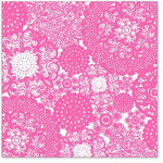 Hambly Studios - Screen Prints - 12 x 12 Overlay Transparency - Doily Decor - Pink