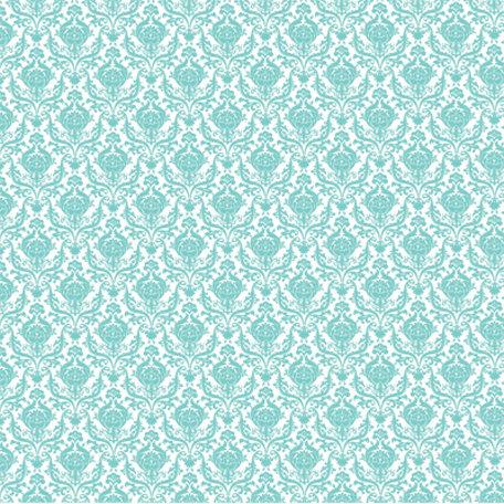 Hambly Studios - Screen Prints - 12 x 12 Overlay Transparency - Mini Brocade - Antique Teal Blue