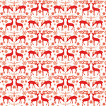 Hambly Studios - Screen Prints - Christmas - 12 x 12 Overlay Transparency - Holiday Deer - Red