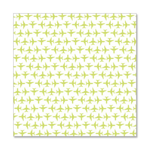 Hambly Studios - Screen Prints - 12 x 12 Overlay Transparency - Up Up and Away - Antique Lime